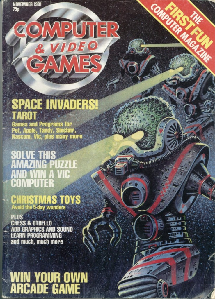 First ever issue of CVG and yes; that is Space Invaders in case you are wondering.